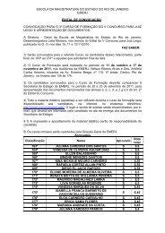 Edital de Convocação para o 3º Curso de Formação do V ... - Emerj