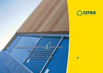 Exemples de réalisations aplicacions - Cetris