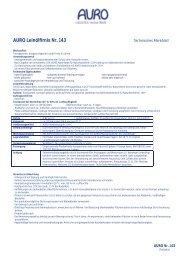 Technisches Merkblatt - Auro