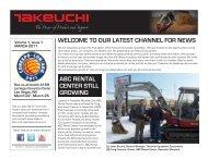 Newsletter: March 2011 - Takeuchi U.S.