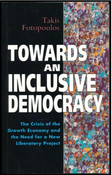 Towards an Inclusive Democracy