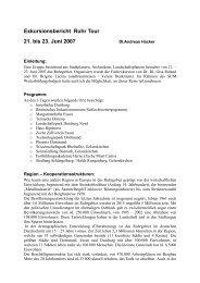 Exkursionsbericht - Stadt-Umland Management