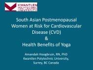 (CVD) & Health Benefits of Yoga - Fraser Health Authority