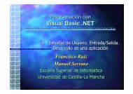 Visual Basic .NET - Universidad de Castilla-La Mancha