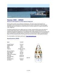 Hanse 400 - ARGO - Ocean Nomads