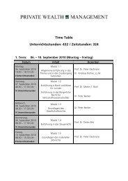 Time Table Unterrichtsstunden: 432 / Zeitstunden: 324