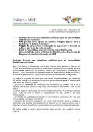 Proposta Informe 6 - Brasileiros no Mundo - Ministério das Relações ...