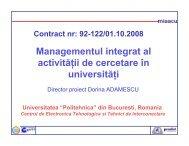 Managementul Integrat in Administrarea Activitatii de - Prezentare