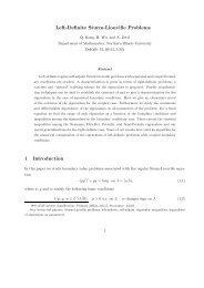 Left-Definite Sturm-Liouville Problems 1 Introduction - Department of ...
