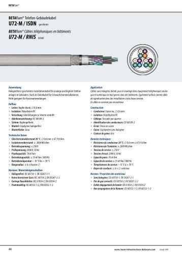U72-M / ISDN geschirmt U72-M / RNIS blindé - LEONI Infrastructure ...