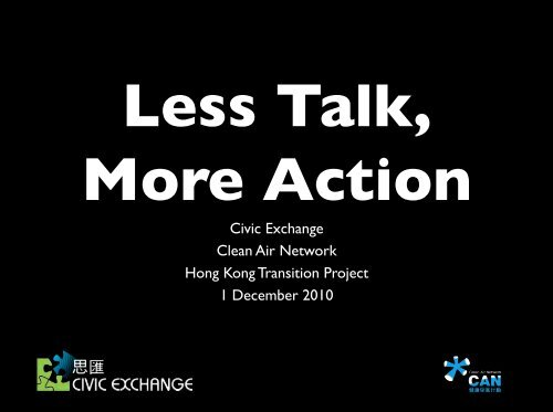 Civic Exchange Clean Air Network Hong Kong Transition Project 1 ...