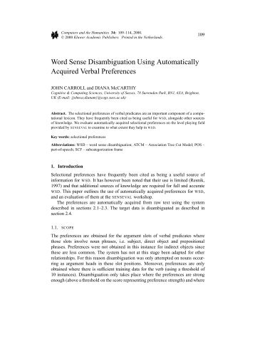 Word Sense Disambiguation Using Automatically Acquired Verbal ...