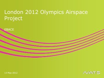 London 2012 Olympics Airspace Project, Brendan Kelly - eBace