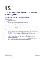 XACML Profile for Role Based Access Control (RBAC) - CD