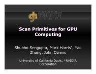 Scan Primitives for GPU Computing Scan Primitives for GPU ...