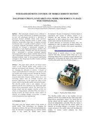 WEB BASED REMOTE CONTROL OF MOBILE ROBOTS MOTION ...
