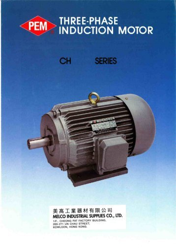 THREE-PHASE INDUCTION MOTOR - Melco Industrial Supplies Co ...