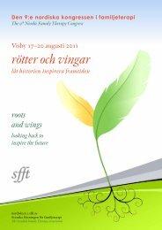 rötter och vingar - Svenska föreningen för familjeterapi