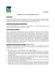 Library Volunteer Coordinator - City of Tigard