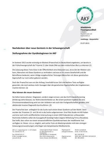 Stellungnahme zur 14 - Netzwerk Frauengesundheit Berlin
