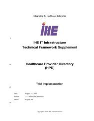 Healthcare Provider Directory - IHE