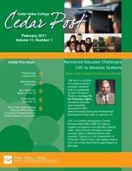 February, 2011 - Cedar Valley College