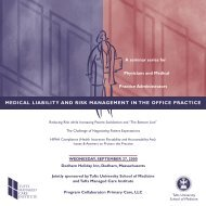medical liability and risk management in the office practice
