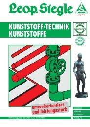 KUNSTSTOFF-TECHNIK KUNSTSTOFFE - Siegle