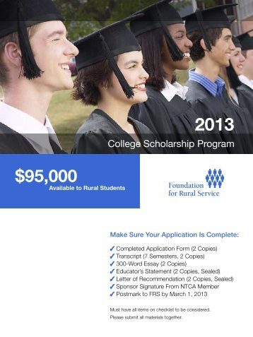 FRS Scholarships