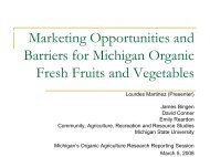 Wholesale and Retail Market Opportunities and Barriers for Fresh ...