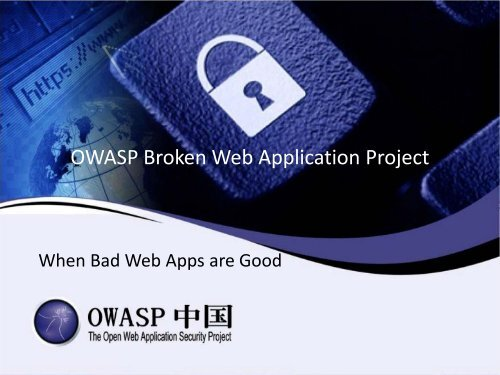 OWASP Broken Web Application Project