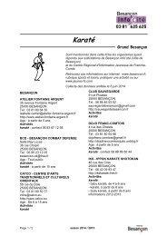 karaté ok - Besançon