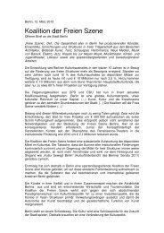 Koalition der Freien Szene_Offener Brief_12 03 ... - Radialsystem V