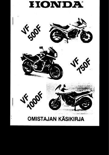 VF500F 1984-1986 käsikirja (.pdf, 2.24 MB) - Honda