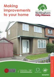 Making improvements to your home - Nottingham City Homes