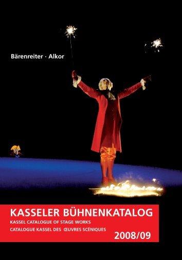 kasseler bühnenkatalog kassel catalogue of stage ... - Bad Request