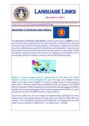 December 6, 2011 Association of Southeast Asian Nations