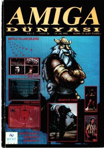 Amiga Dunyasi - Sayi 20 (Ocak 1992).pdf - Retro Dergi