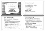 Grundlagen der Programmierung Kapitel 4: Algorithmen und ...