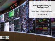 Managing Flexibility in MISO Markets