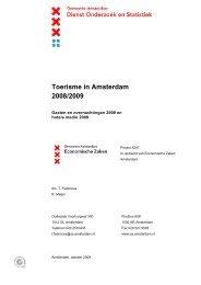Toerisme in Amsterdam 2008/2009 - Onderzoek en Statistiek ...