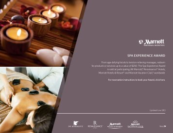 SPA EXPERIENCE AWARD - Marriott