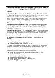 TDAH - Diagnostic et traitement - Ge.ch