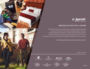 WEEKEND ACCESS LEVEL 2 AWARD - Marriott
