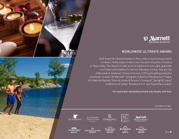 WORLDWIDE ULTIMATE AWARD - Marriott