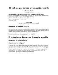 El trabajo por turnos en lenguaje sencillo - BVSDE