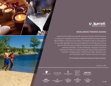 WORLDWIDE PREMIER AWARD - Marriott