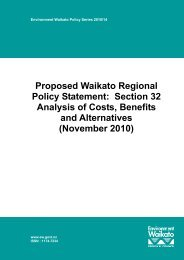 Proposed Waikato Regional Policy Statement: Section 32 Analysis ...