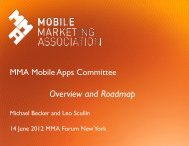 14 June 2012 MMA Forum New York - Mobile Marketing Association