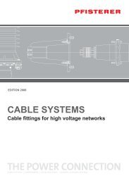 CABLE SYSTEMS Cable fittings for high voltage ... - Elektroskandia
